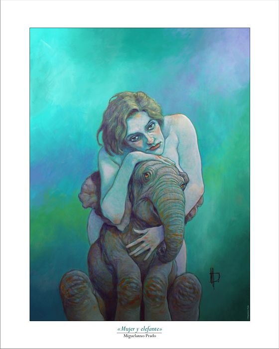 """Woman with elephant"""
